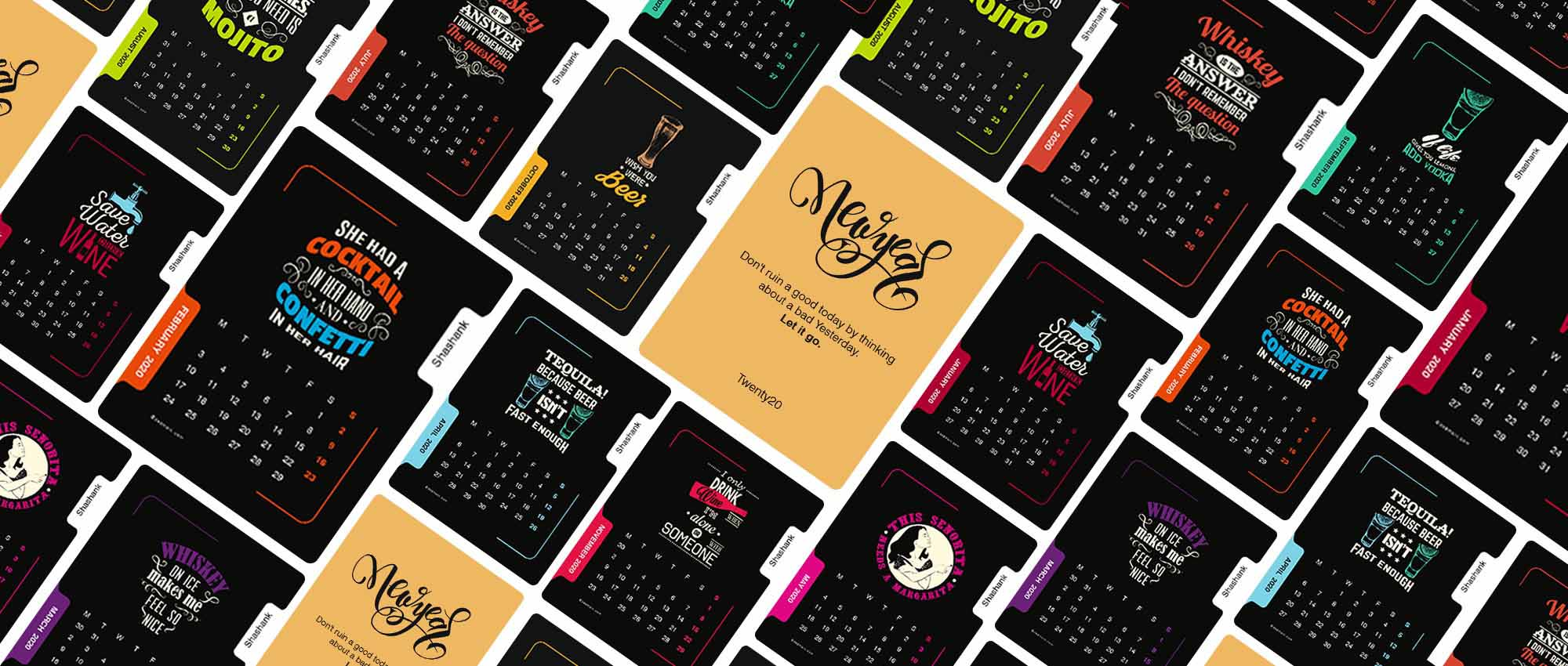 Personalised Desk Calendar 2020<br/> Liquor Lovers